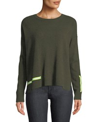 Lisa Todd Love Cashmere Sweater W Reflector Trim Kale