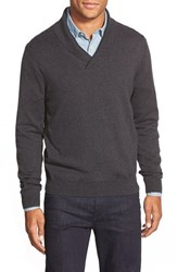 Nordstrom Men's Men's Shop Cotton And Cashmere Shawl Collar Sweater