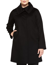 Jane Post Cashmere Oversized Collar Long Coat Black Women's