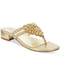 Adrianna Papell Delta Evening Sandals Women's Shoes Gold