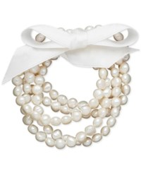 Macy's Honora Style Cultured Freshwater Pearl 5 Piece Stretch Bracelet Set 7 8Mm White