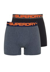 Superdry Sport Boxer Double Pack Navy Marl