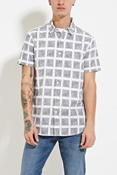 Forever 21 Box Print Collared Shirt