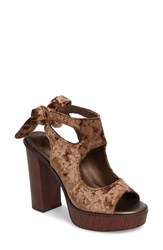 Very Volatile Women's Kimbra Cutout Ankle Tie Sandal Bronze