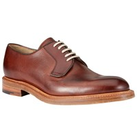 John Lewis And Co. Made In England Calf Derby Shoes Oxblood
