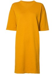 Etoile Isabel Marant Oversized T Shirt Dress Yellow Orange