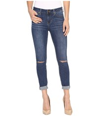Liverpool The Crop 26 28 Rolled In Edison Mid Dest Indigo Edison Mid Dest Indigo Women's Jeans Blue