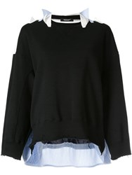 Undercover Layered Sweater Black