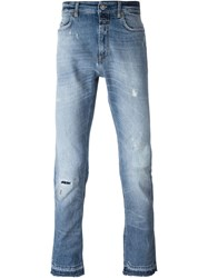 Closed Mid Wash Distressed Jeans Blue