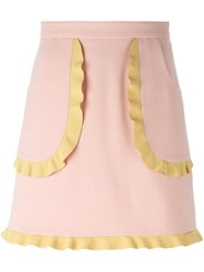 Red Valentino Ruffle Pocket Skirt Pink And Purple