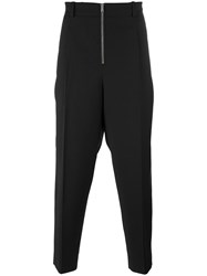 3.1 Phillip Lim Exposed Zip Tailored Trousers Black