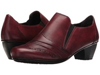 Rieker 41730 Medoc Burgund Cristallino Bogota Women's Slip On Dress Shoes Burgundy