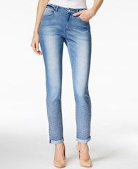 Nanette By Nanette Lepore Geometric Embroidery Jane Wash Jeans