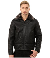Marc New York Kane Faux Shearling Aviator Jacket Black Men's Coat