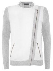 Mint Velvet Biker Cardigan Grey