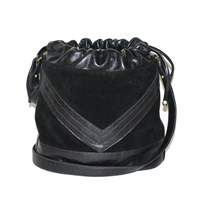 Mei Vintage Chevron Crossbody Black