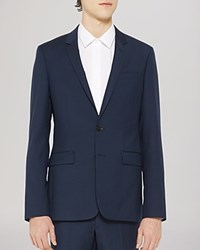 Sandro Notch Suiting Jacket Slim Fit Blue