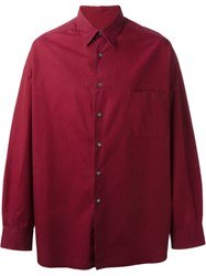 Romeo Gigli Vintage Button Down Shirt Red