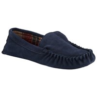John Lewis Alfred Checked Slippers Navy