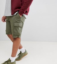 French Connection Plus Military Cargo Shorts Green