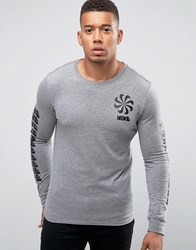 Nike Legacy Longsleeve T Shirt With Pinwheel Logo In Grey 806288 091 Grey