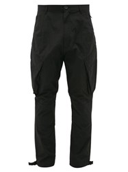 Givenchy Logo Patch Technical Blend Cargo Trousers Black