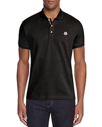 Moncler Pique Regular Fit Polo Shirt Black
