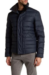 Hunter Funnel Neck Quilted Puffer Jacket Blue
