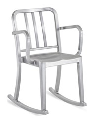Emeco Heritage Rocking Armchair Silver