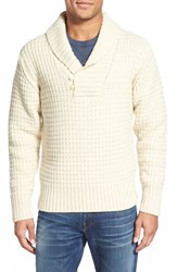 Men's Schott Nyc Shawl Collar Knit Pullover Off White