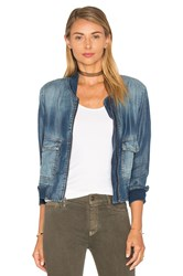 Bella Dahl Patch Pocket Bomber Jacket Islay Wash