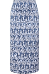 Wes Gordon Stretch Jacquard Pencil Skirt