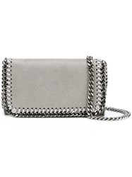 Stella Mccartney Mini Falabella Crossbody Bag Women Polyester One Size Grey
