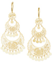 Macy's Filigree Chandelier Earrings In 14K Gold Yellow Gold