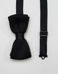 Noose And Monkey Knitted Bow Tie Black
