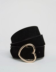 Asos Heart Buckle Belt Black