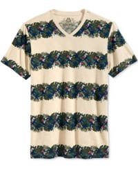 American Rag Men's Floral Stripe T Shirt Only At Macy's Oatmeal