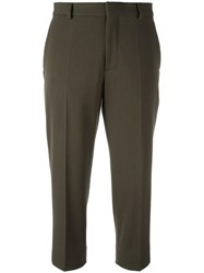 Maison Martin Margiela Cropped Tailored Trousers Green