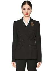 Dolce And Gabbana Double Breasted Stretch Natte Jacket