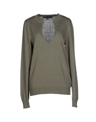 Frankie Morello Sweaters Military Green