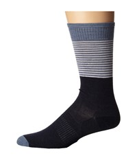 Smartwool Tailored Stripe Crew Deep Navy Heather Men's Crew Cut Socks Shoes