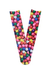 Forever 21 Photorealistic Gumball Graphic Socks Pink