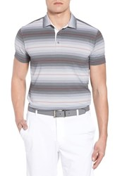 Bobby Jones R18 Tech Diesel Stripe Golf Polo Black