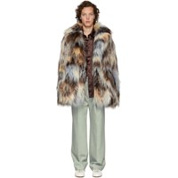 Sies Marjan Multicolor Faux Fur Emery Peacoat