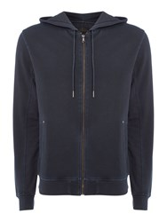 Label Lab Men's Benirras Garment Dyed Hoodie Dark Navy