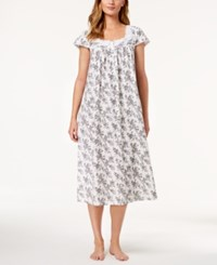 Charter Club Cotton Floral Border Nightgown Rose Toile