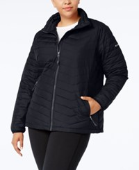 Columbia Plus Size Oyanta Trail Insulated Active Jacket Charcoal