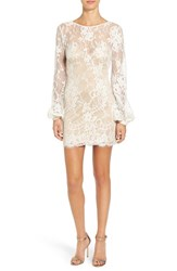 Women's Katie May 'Britney' Long Sleeve Open Back Lace Sheath Dress