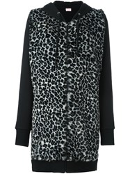 Giamba Animal Print Long Hoodie Black