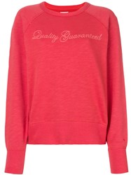 Rag And Bone Quality Guaranteed Jumper Cotton Red